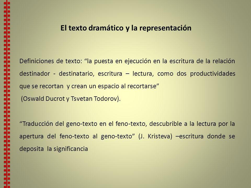 Consideraciones sobre la representación 1.En todo TD, la representación esta virtualmente figurada en el texto (TEV).