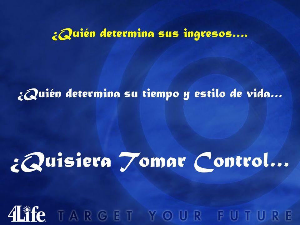 ¿Quisiera Tomar Control… ¿Quién determina sus ingresos….