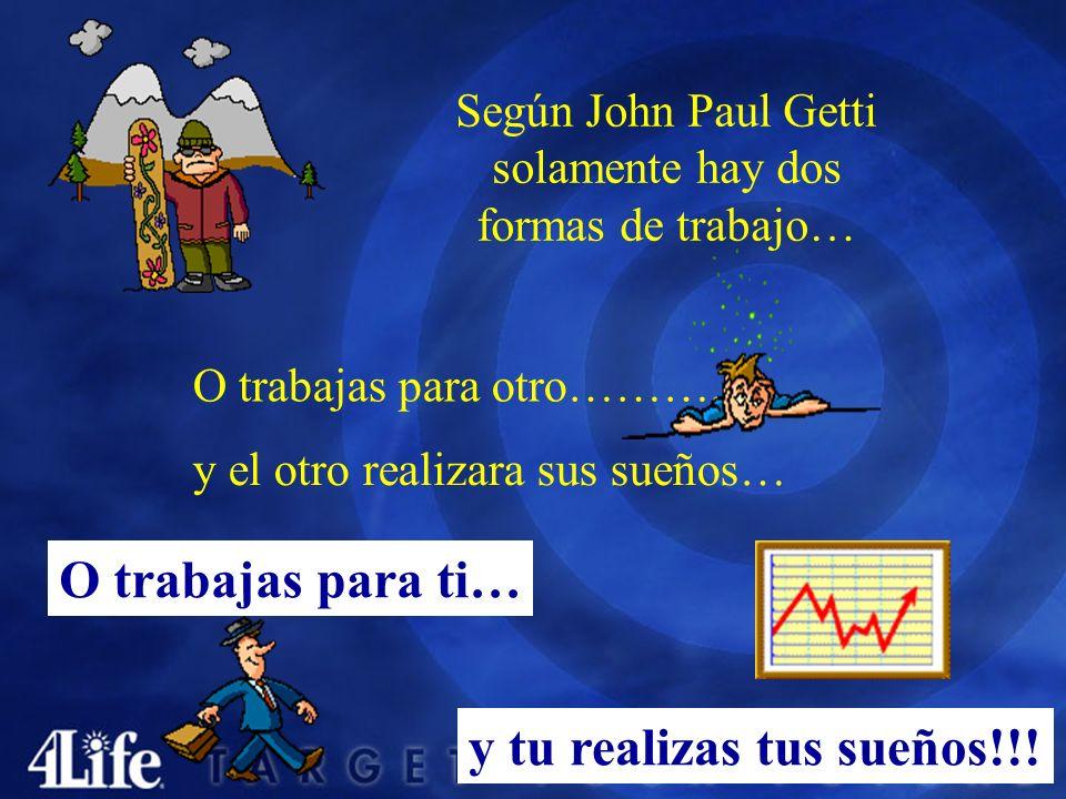 Según John Paul Getti solamente hay dos formas de trabajo… O trabajas para otro………..
