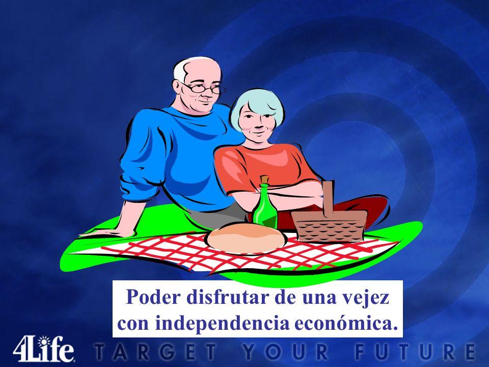 Poder disfrutar de una vejez con independencia económica.