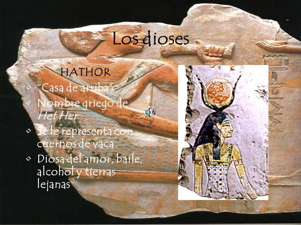 Los dioses HORUS Nombre griego de Heru Hijo de Isis y Osiris Patrón del Alto Egipto Prototipo divino del faraón