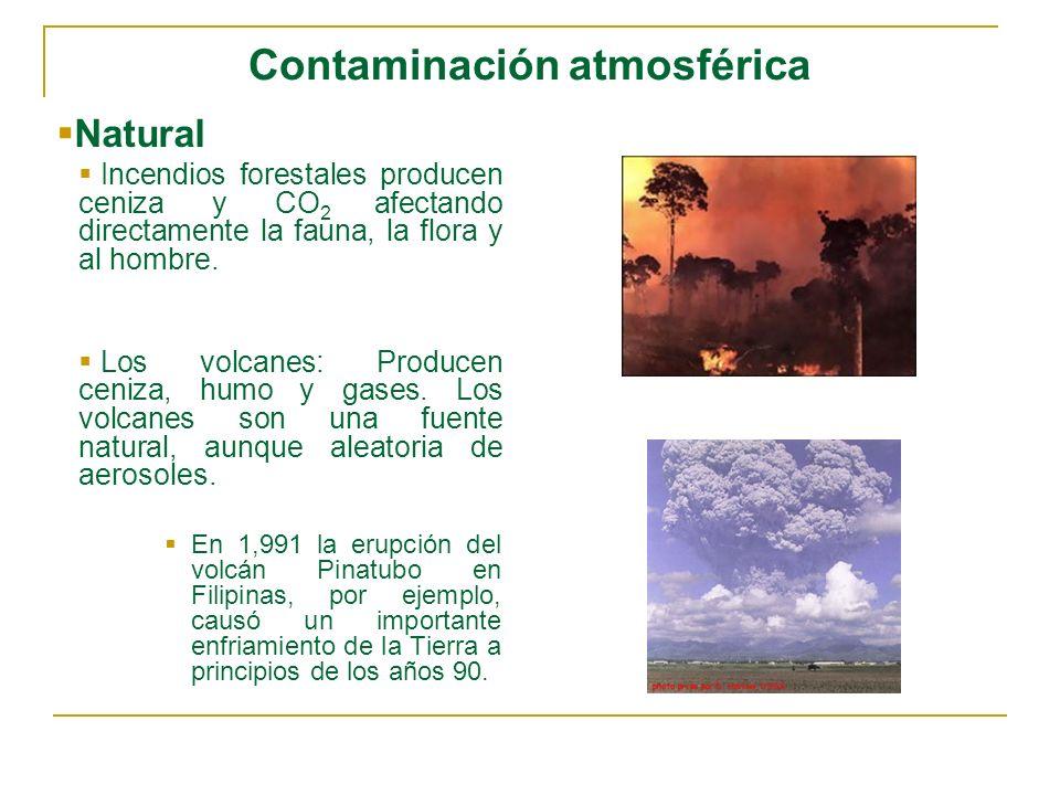 Contaminación atmosférica Fija Chimeneas (Industria Manufacturera) Actividades con olores nocivos Procesos químicos Polvos y humos Basura radioactiva y gases Procesos nucleares o atómicos.