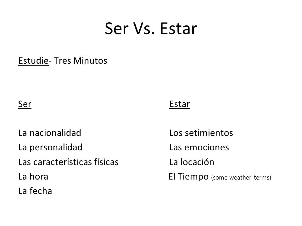 Unit Test Topics The Verb Ser Adjective Agreement The verb Tener Ser versus Tener All physical characteristics, personality traits, hair and eye colors (new and review).