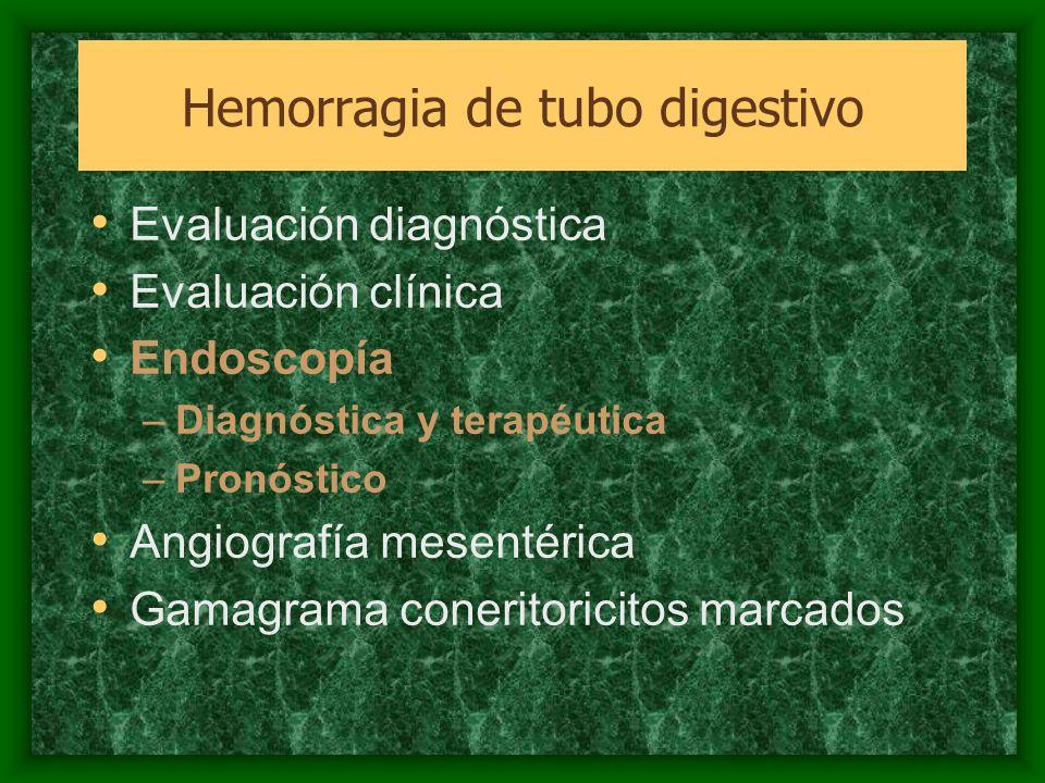 Hemorragia de tubo digestivo alto no secundaria a Hipertensión Portal Esofagitis: 2% Síndrome de Mallory-Weis: ulceraciones de la unión gastroesofágica 5-15% –Cesa espontáneamente 90% –Electrocoagulación bipolar Hemorragia de tubo digestivo
