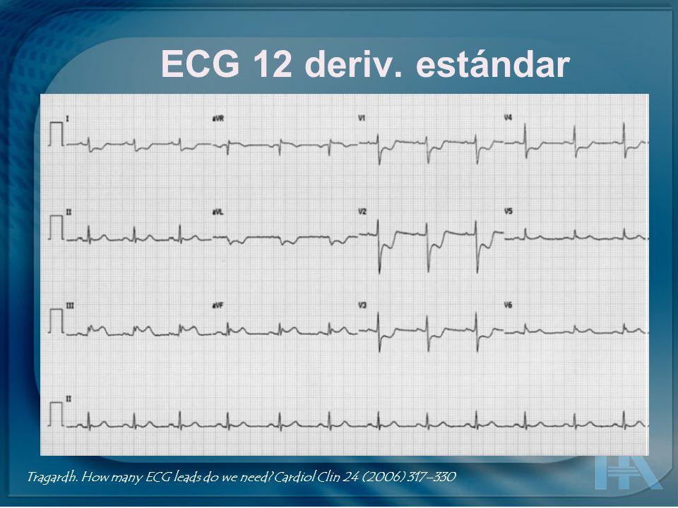 EASI Tragardh. How many ECG leads do we need? Cardiol Clin 24 (2006) 317–330