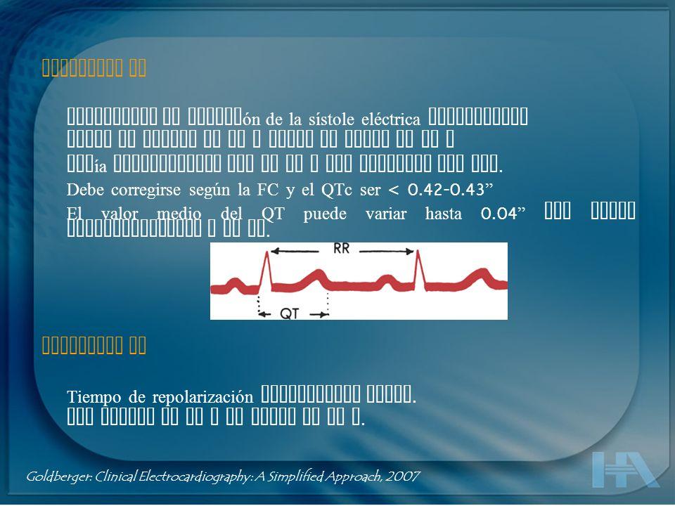 Unión RST ( punto J ) Punto en que termina el complejo QRS y comienza el segmento ST.