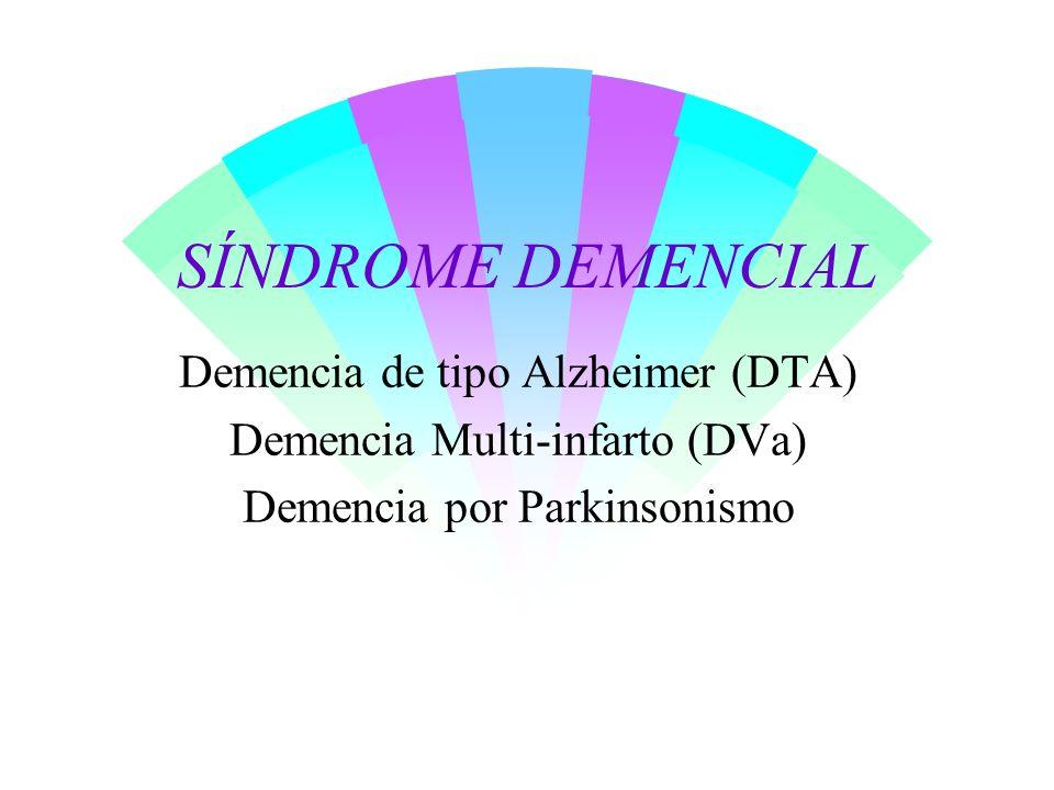 Síndrome demencial w Deterioro adquirido, gradual y progresivo de la memoria y otras funciones cognitivas.