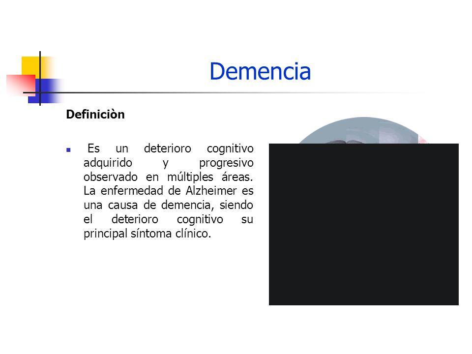 Demencia Criterios diagnòsticos - DSM IV A.