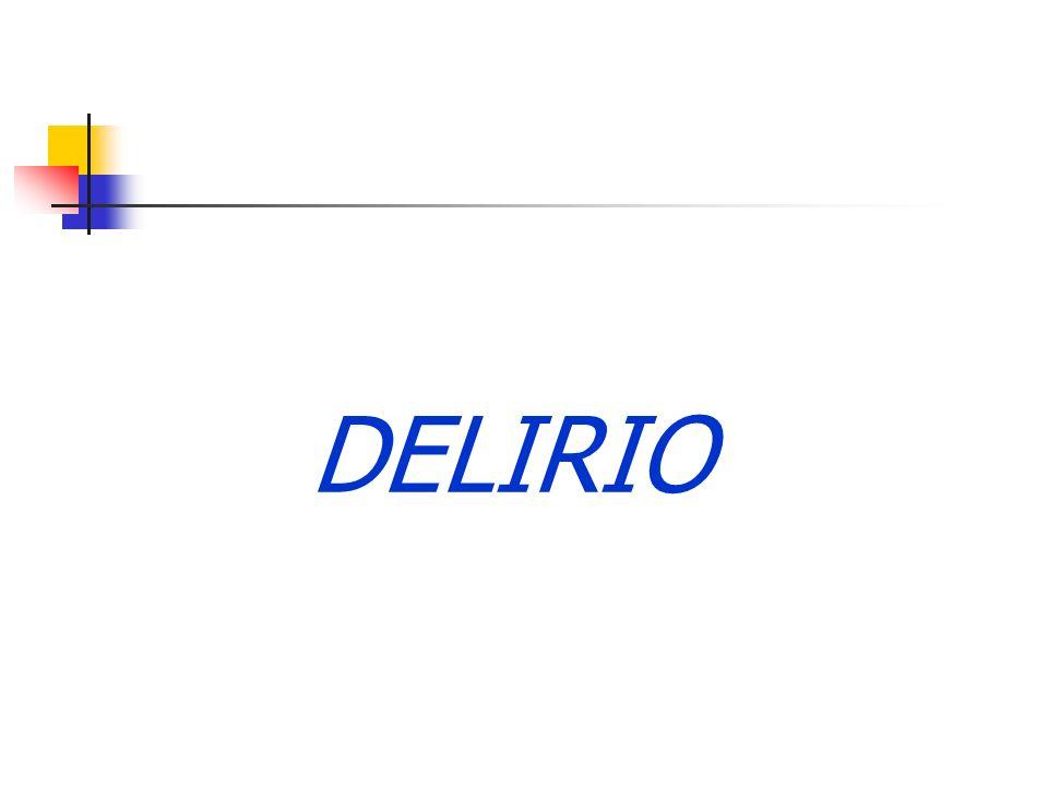 Sìndrome confusional agudo (delirium) Sd.