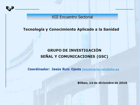 XIII Encuentro Sectorial