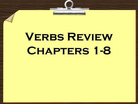 Verbs Review Chapters 1-8. necesitar buscar mirar comprar pagar hablar trabajar To Need To Look For To Look To Buy To Pay To Talk To Work.