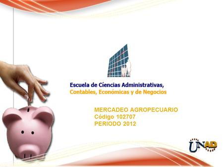 MERCADEO AGROPECUARIO Código 102707 PERIODO 2012.