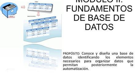 MÓDULO II: FUNDAMENTOS DE BASE DE DATOS