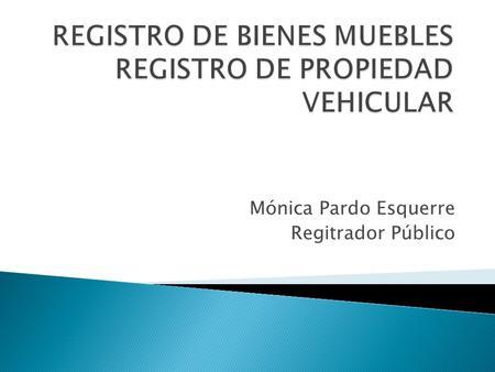 Registro de propiedad vehicular ppt descargar for Registro bienes muebles cadiz