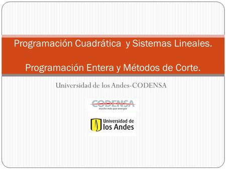 Universidad de los Andes-CODENSA