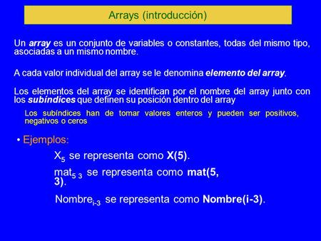 Arrays (introducción)