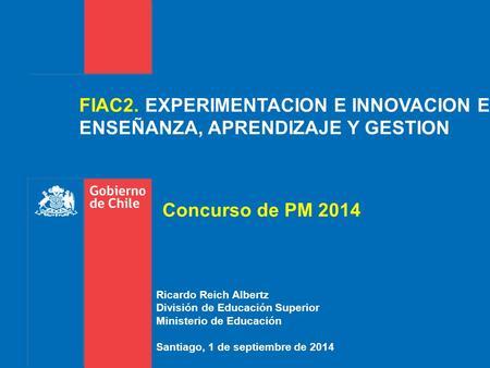 Convenios de desempe o seminario sct chile innovaci n y for Oficina xestion de multas concello de santiago