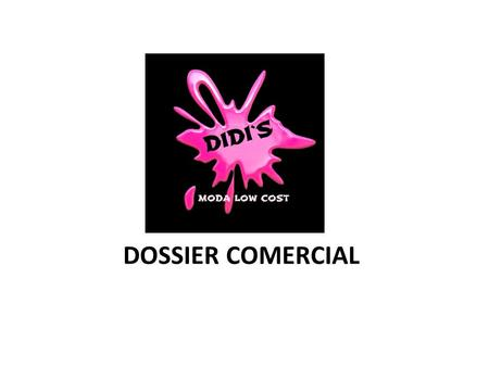 DOSSIER COMERCIAL.