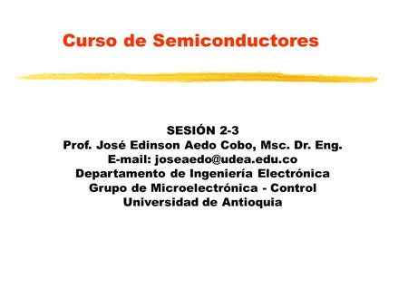 Curso de Semiconductores