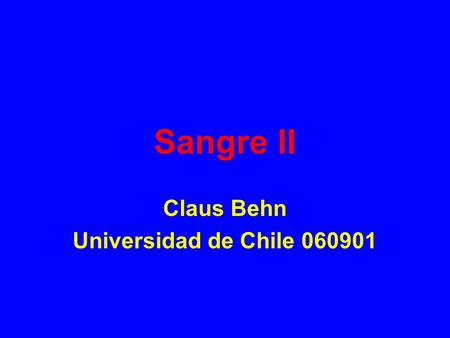 Sangre II Claus Behn Universidad de Chile 060901.