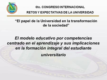 6to. CONGRESO INTERNACIONAL