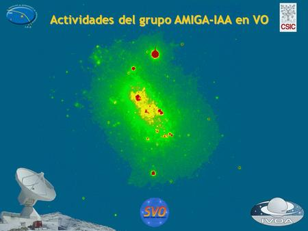 Actividades del grupo AMIGA-IAA en VO. AMIGA (Analyzing the interestellar Medium of Isolated GAlaxies) AMIGA (Analyzing the interestellar Medium of Isolated.