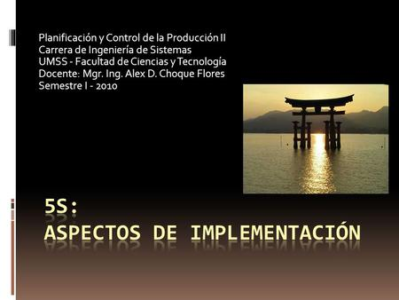 5s: aspectos de implementación
