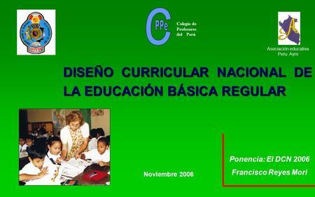 dise o curricular nacional de la educaci n b sica regular On diseno curricular educacion primaria