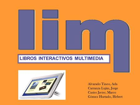 LIBROS INTERACTIVOS MULTIMEDIA