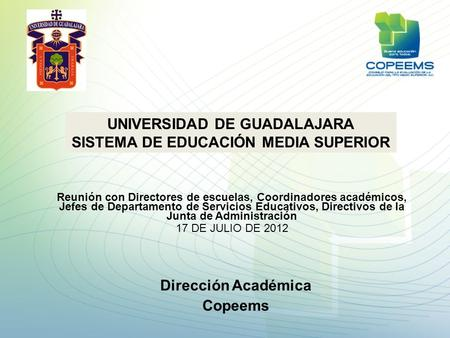 UNIVERSIDAD DE GUADALAJARA SISTEMA DE EDUCACIÓN MEDIA SUPERIOR