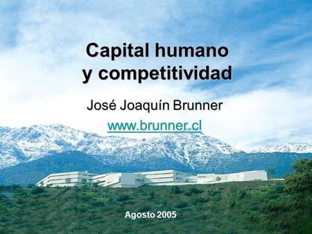 Capital humano y competitividad