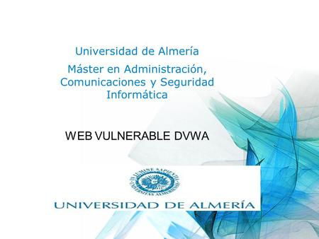 WEB VULNERABLE DVWA Universidad de Almería