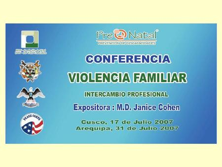 Conference On Family Violence International Professional Exchange Presenters: Janice E. Cohen, M.D. with Rachel Farrell and Nancy Janett Ochoa Luna Cusco,