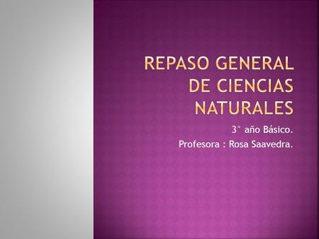 Repaso general de Ciencias Naturales