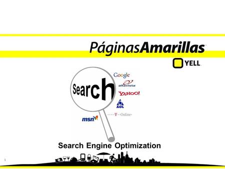 1 Search Engine Optimization. 22 Objetivo Adquirir conceptos básicos de SEO y herramientas de uso.