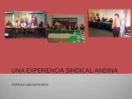 UNA EXPERIENCIA SINDICAL ANDINA Instituto Laboral Andino.
