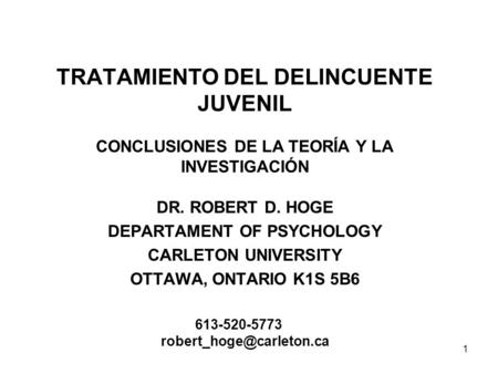 DEPARTAMENT OF PSYCHOLOGY