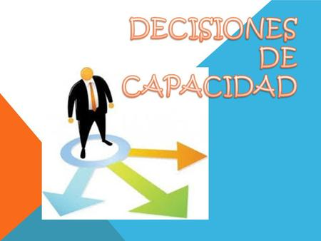 DECISIONES DE CAPACIDAD