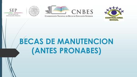 BECAS DE MANUTENCION (ANTES PRONABES). REQUISITOS Y DOCUMENTOS A ENTREGAR PARA BENEFICIARIOS EN EL CICLO ESCOLAR 2014-2015 PRIMER AÑO  SER MEXICANO 