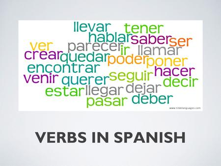 VERBS IN SPANISH.
