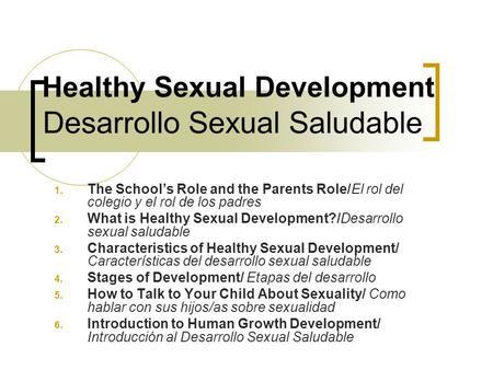 Parents role in sex education