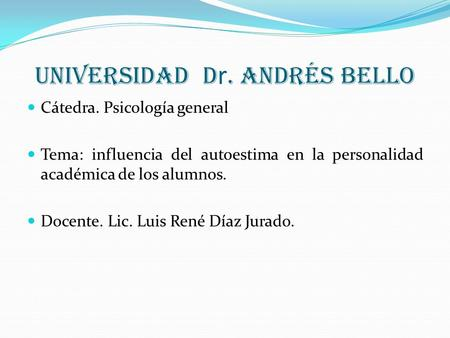 Universidad Dr. Andrés Bello
