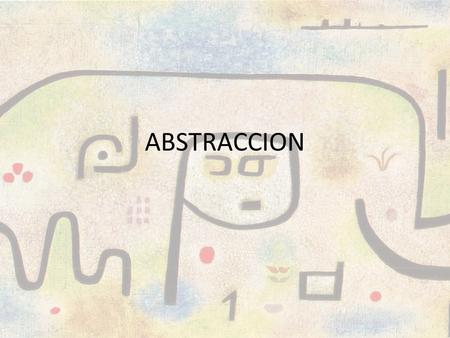 ABSTRACCION.