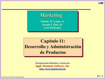 Marketing Capítulo 11: Desarrollo y Administración de Productos