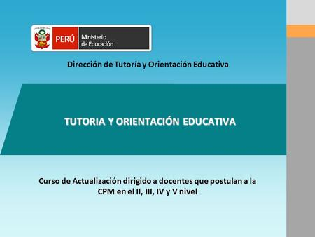 TUTORIA Y ORIENTACIÓN EDUCATIVA