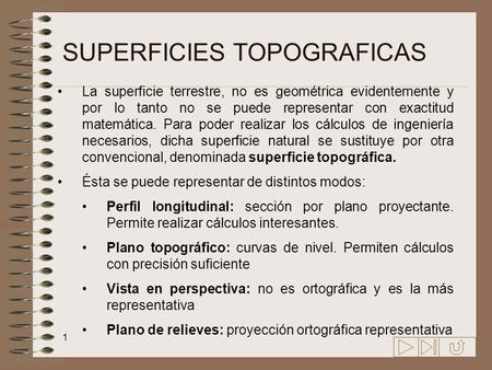 SUPERFICIES TOPOGRAFICAS