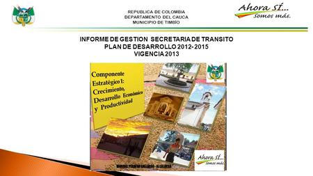 INFORME DE GESTION SECRETARIA DE TRANSITO