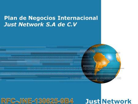 RFC-JNE B4 Just Network Plan de Negocios Internacional
