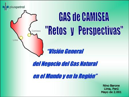 "GAS de CAMISEA Retos y Perspectivas ""Visión General"