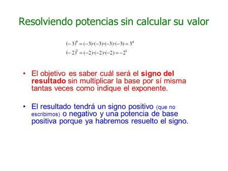 Resolviendo potencias sin calcular su valor